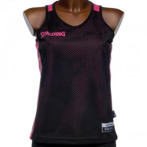 Maillot Basket Femme Sans Manche Spalding Reversible maillot noir/r