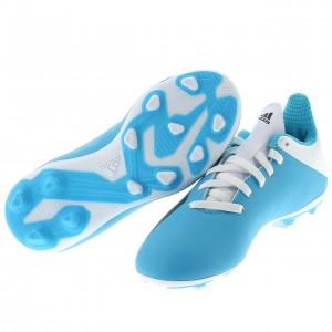 Chaussures Football Crampons Lamelles Enfant Adidas X19.4 fxg jr blc ciel