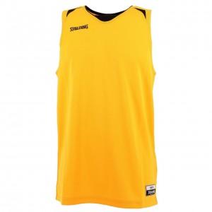 Maillot Basket Homme Sans Manches Spalding Attack  jaune/noir debard