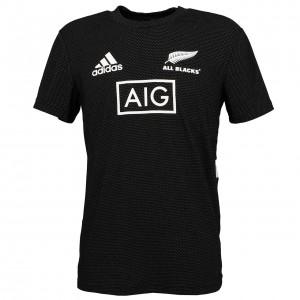 Maillot Réplica Rugby Homme Manche Courte Adidas All black maillot trainn