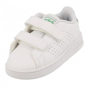 Chaussure Mode Ville Scratch Bébé Adidas Advantage baby  blc/vr