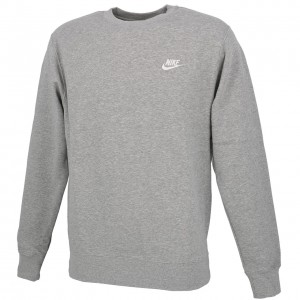 Sweat Multisport Homme Col Rond Nike Club crw   h  gris chine