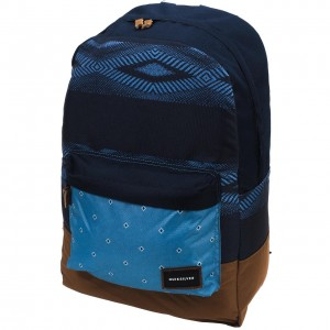 Sac Dos écolier Mode Homme Quiksilver Night track print blue