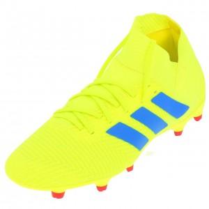 Chaussures Football Crampons Lamelles Homme Adidas Nemeziz 18.3 fg syello
