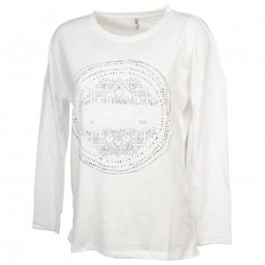 T-shirt Mode Manches Longue Femme Only Uma bright white ml tee