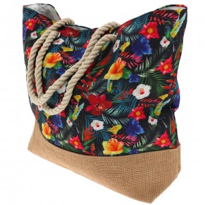 Sac à Main Mode Femme Cabas Culture Sud Chabadi  fleur sac cabas