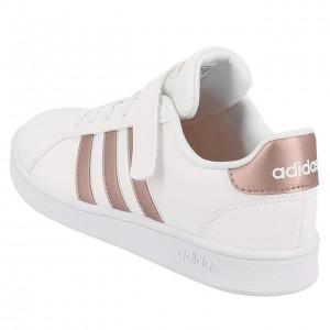 Chaussure Mode Ville Scratch Fillette Adidas Grand court c