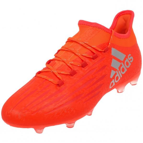 Chaussures Football Crampons Moulés Homme Adidas X16.2 fg h orange