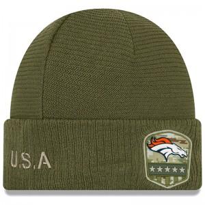 Bonnet NFL Denver Broncos New Era On Field Salute to Service 2019 Vert