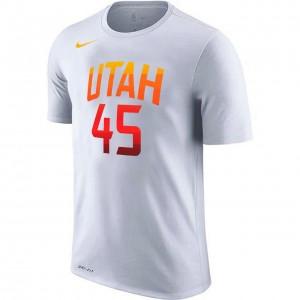 T-Shirt Man Nike Mitchell Name & Number Tee Utah Jazz Donovan Mitchell White