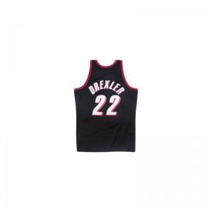 Maillot NBA swingman Clyde Drexler Portland Trail Blazers 1983-84 Hardwood Classics Mitchell & Ness noir