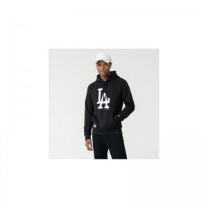 Sweat à capuche MLB Los Angeles Dodgers New Era Seasonal Team Noir pour homme