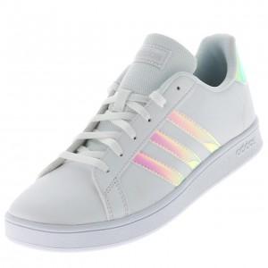 Chaussure Mode Ville Basse Fillette Adidas Grand court k blac rose