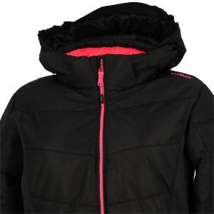 Anorak Hiver Neige Montagne Fillette Campagnolo Snaps hood black jkt girl