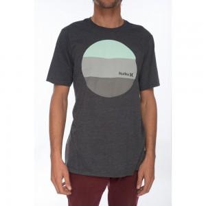 T-shirt Hurley Circular Block Black Heather