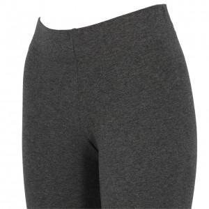 Collant Long Multisport Femme Moulant Adidas E lin tight dk grey mel l