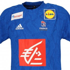 Maillot Réplica Handball Homme Manche Courte Adidas Ffhb france 2020 handbal