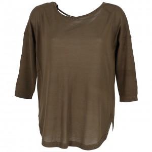 Womenswear Sweater Round Neck Only Sky string kk pull l