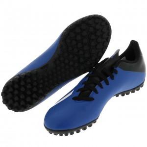 Chaussures Football Stabilisé Homme Adidas X 4 turf bleu h