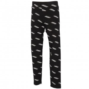 Collant Long Mode Fillette Moulant Adidas Fav black white tight girl