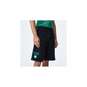 Short NBA Boston Celtics New Era Piping Noir pour homme