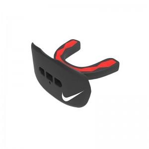 Protège dent + protège lèvre Nike Hyperflow Adulte Noir et rouge avec strap