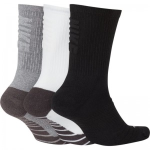 Chaussettes Nike Everyday Gris Wht Blk 3 paires