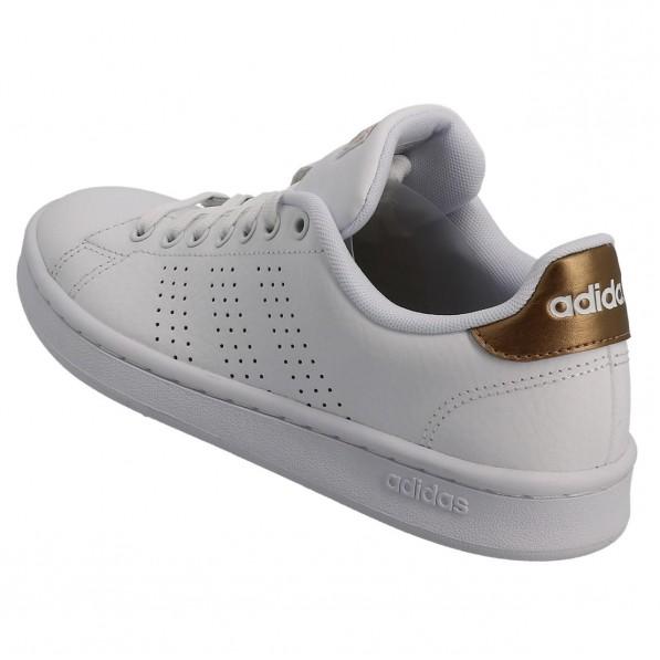 Chaussure Mode Ville Basse Femme Adidas Advantage w blanc dore