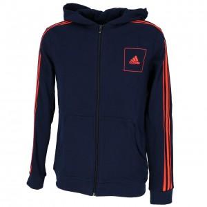 Sweat Multisport Enfant Capuche Adidas Jb a aac navy cap sweat jr