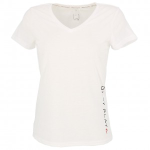 T-shirt Multisport Manches Courte Femme Only Play Performance athl wht tee l