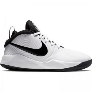 Chaussure de Basketball Nike Team Hustle D 9 Blanc pour junior
