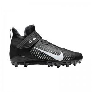 Crampons de Football Americain moulés Nike Alpha Pro Mid 2 Noir Pour Hommes