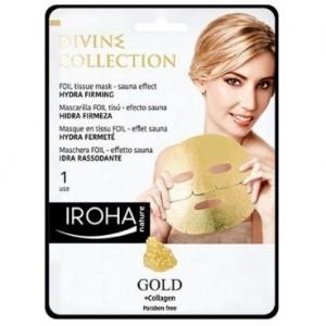 Masque visage tissu hydra-fermeté gold IROHA