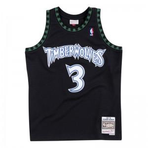 Maillot NBA Stephen Marbury Minnesota Timberwolves 1997-98 Mitchell & ness Hardwood Classics swingman Noir