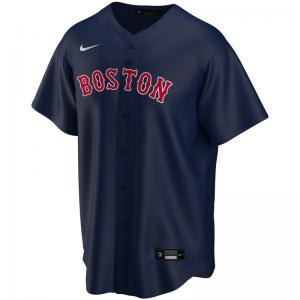 Maillot de Baseball MLB Boston Red Sox Nike Replica Home Bleu marine pour Enfant