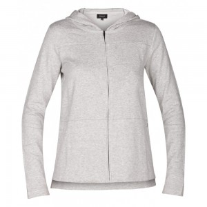 Sweat Hurley One & Only Fleece Zip Grey Heather