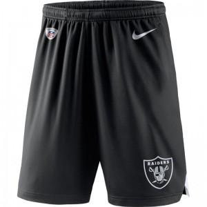 Short NFL Oakland Raiders Nike Dri-Fit Coach Knit Noir pour homme