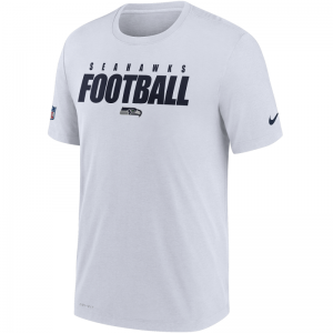 T-Shirt NFL Seattle Seahawks Nike Dri-Fit Cotton Football All Blanc