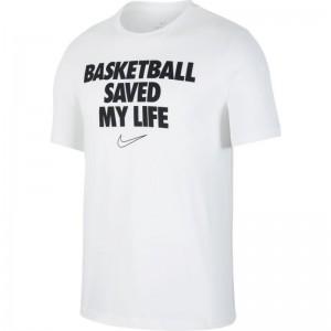 "T-Shirt Nike Dri-fit ""My life"" Blanc pour Homme"