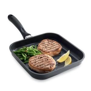 Grill carré anti-adhésif Saveur Plus 24 cm Mathon