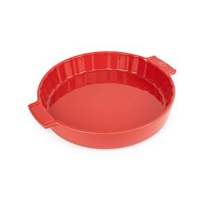 Tourtière céramique rouge 28 cm Peugeot