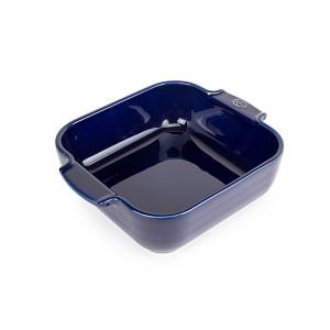Plat four carré céramique bleu 21 cm Peugeot