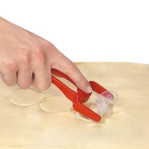 Roulette découpe-pâte à biscuits ovale