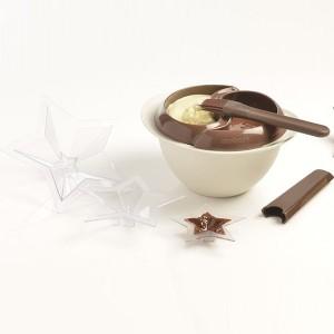 Kit à tempérer le chocolat et 3 moules étoile Mastrad