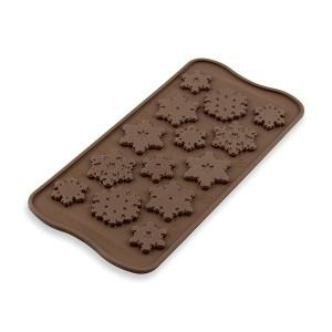 Moule silicone chocolat 14 flocons de neige Silikomart