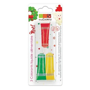 3 colorants liquides Noël Scrapcooking