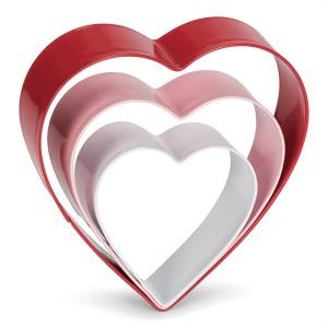 Set de 3 découpoirs coeur inox Patisse