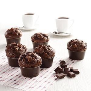 6 moules à muffin individuels Gobel