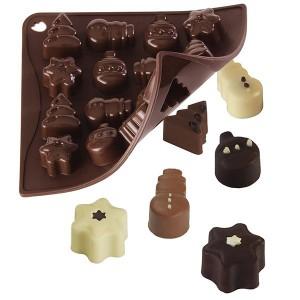 Moule silicone 16 chocolats de Noël