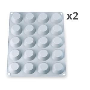 Lot de 2 Flexi'plaques 20 mini-tartelettes Mathon
